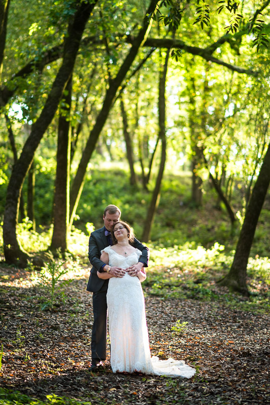 San Francisco Wedding Photography Villa Chanticleer standing in the forest