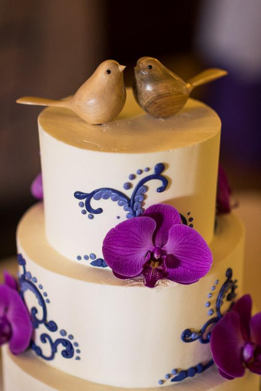 San Francisco Wedding Photography Villa Chanticleer bird cake topper