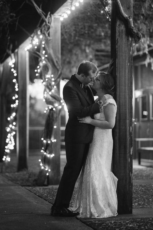 San Francisco Wedding Photography Villa Chanticleer night couple