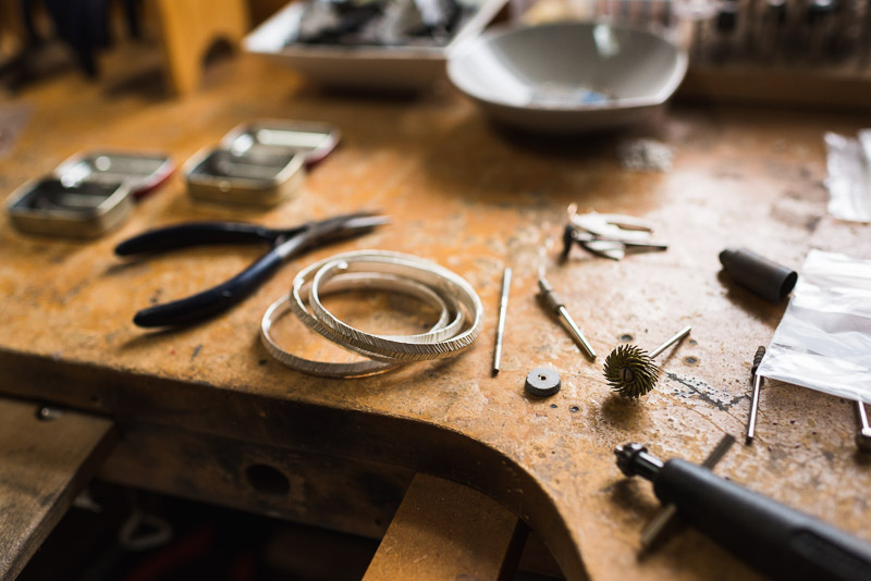 San Francisco Small Business Photography Kendra Renee Jewelry workbench