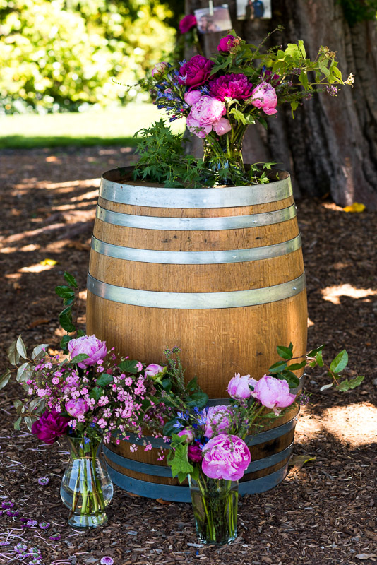 Sonoma Vineyard Proposal Photography Chateau St Jean wine barrel