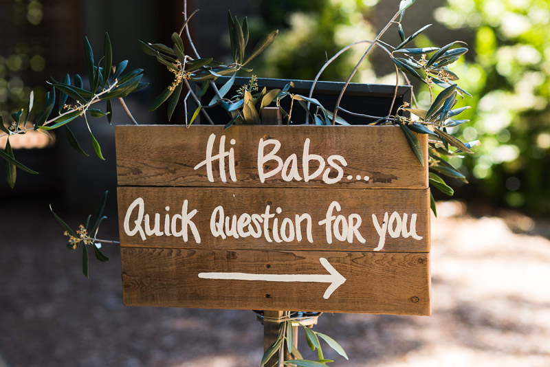 Sonoma Vineyard Proposal Photography Chateau St Jean hand lettered sign