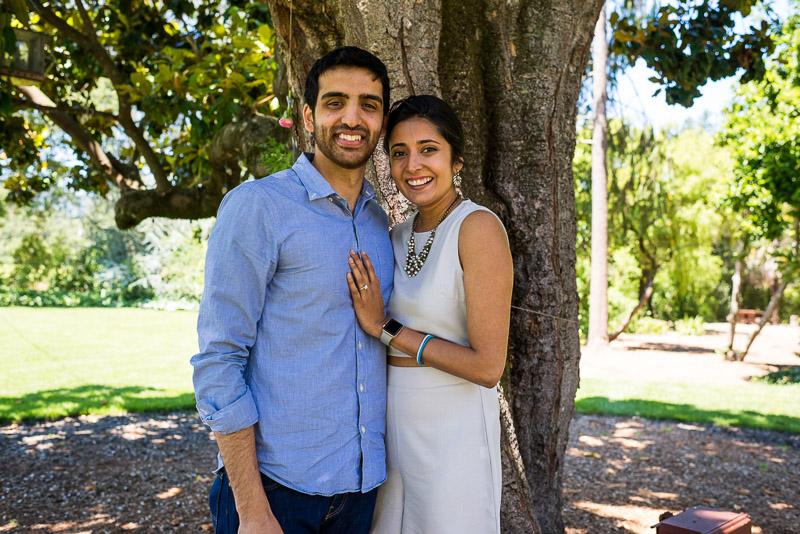 Sonoma Vineyard Proposal Photography Chateau St Jean happy couple