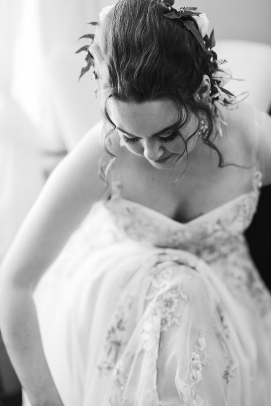 deer park villa wedding photography bride bw