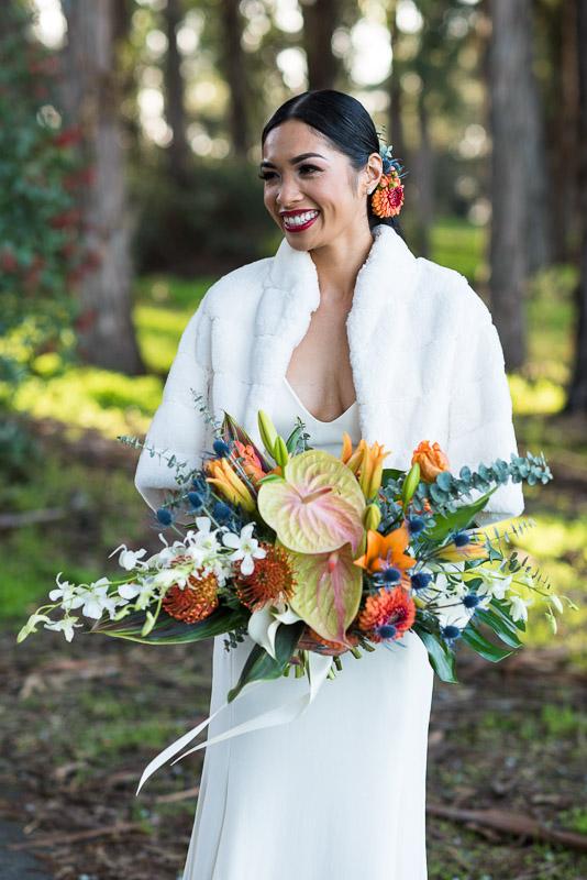 san francisco curiodyssey wedding bouquet