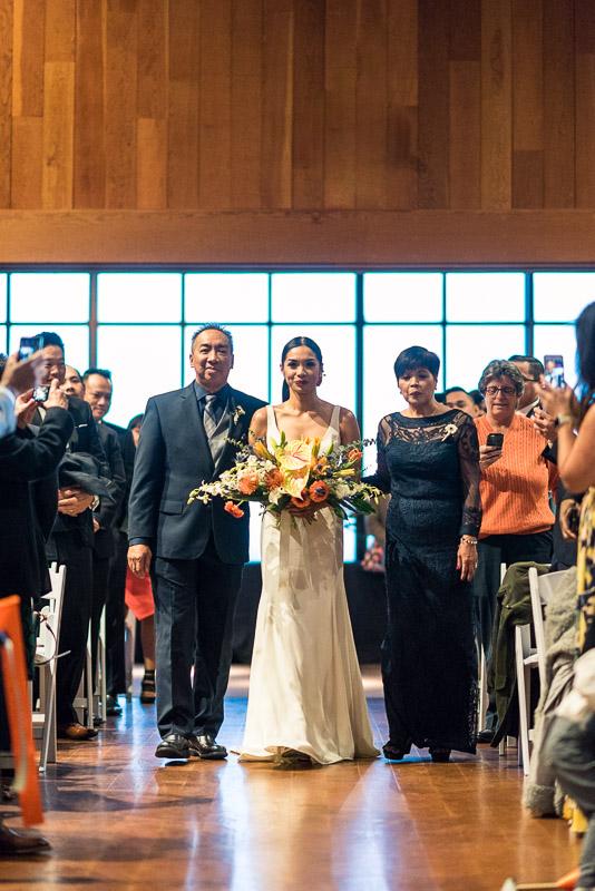 san francisco curiodyssey wedding bride walking down aisle