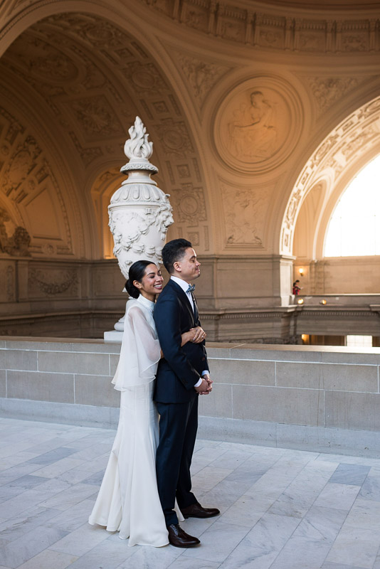 San Francisco City Hall wedding first look