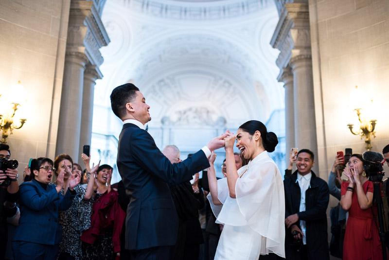 San Francisco City Hall marriage ceremony