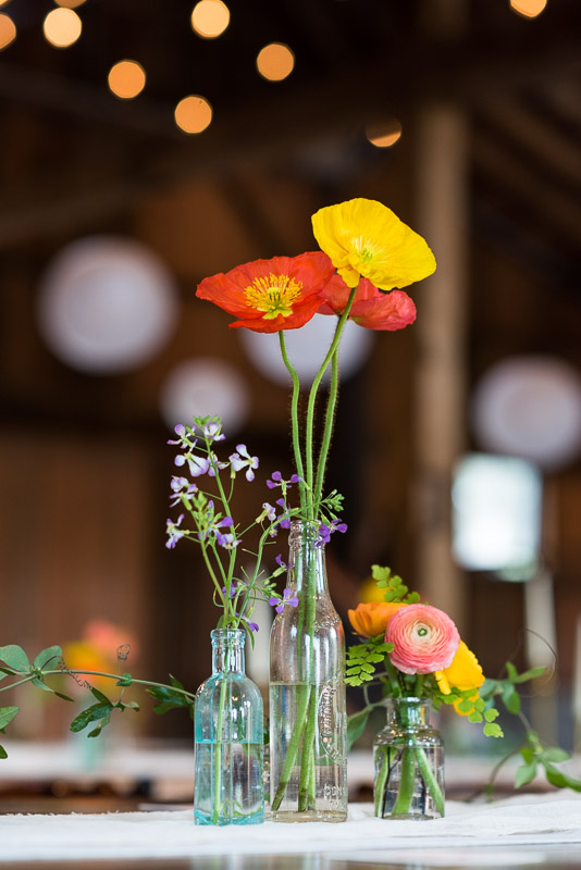 Strauss home ranch wedding poppy flowers