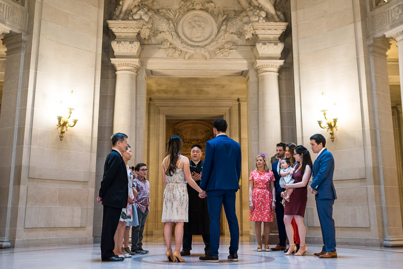 San Francisco City Hall Wedding Photography ceremony