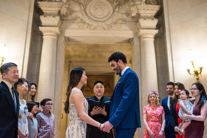 San Francisco City Hall Wedding Photography wedding ceremony