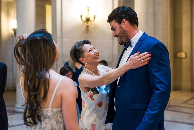 San Francisco City Hall Wedding Photography happy mother