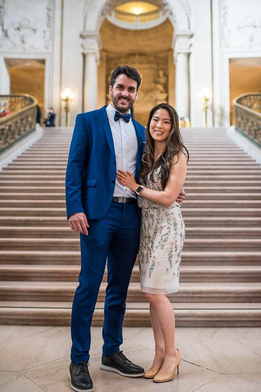 San Francisco City Hall Wedding Photography grand staircase