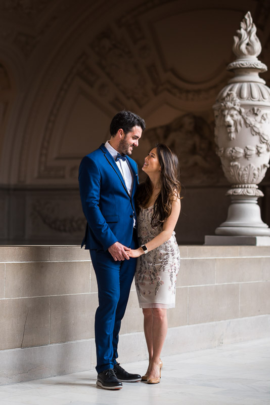 San Francisco City Hall Wedding Photography interior dome