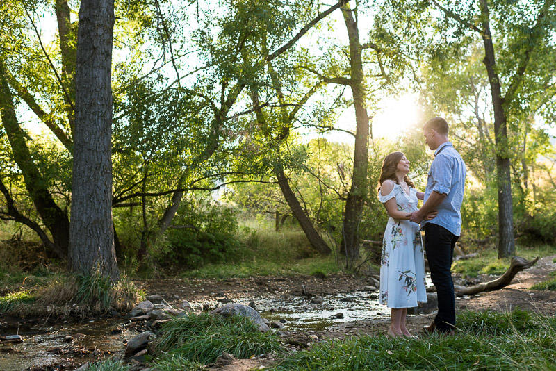 Denver Engagement Photography Morrison river