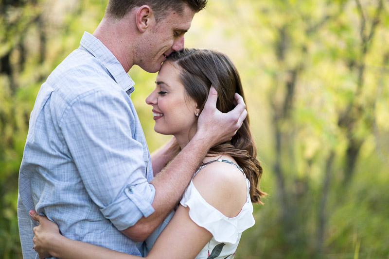 Denver Engagement Photography Morrison forehead kiss