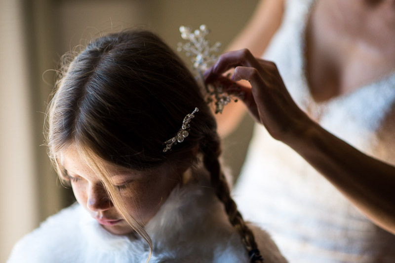 Vail Wedding Photography Camp Hale flowergirl hair