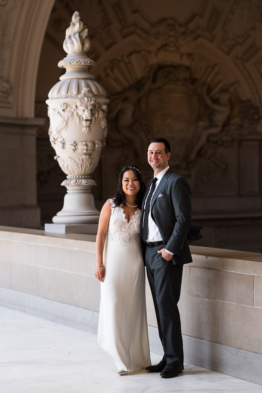 San Francisco City Hall Wedding Photography beautiful interior