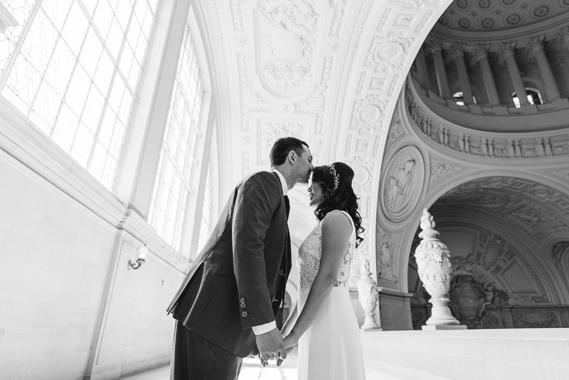 San Francisco City Hall Wedding Photography top floor