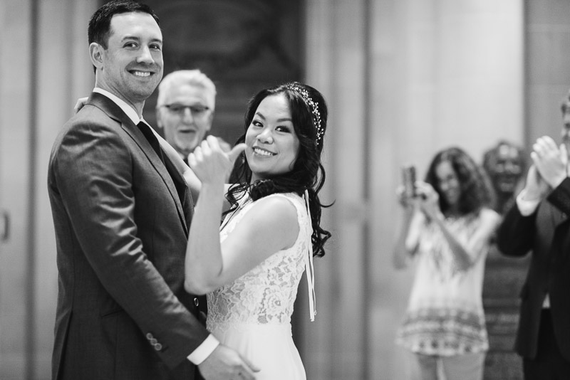San Francisco City Hall Wedding Photography just married