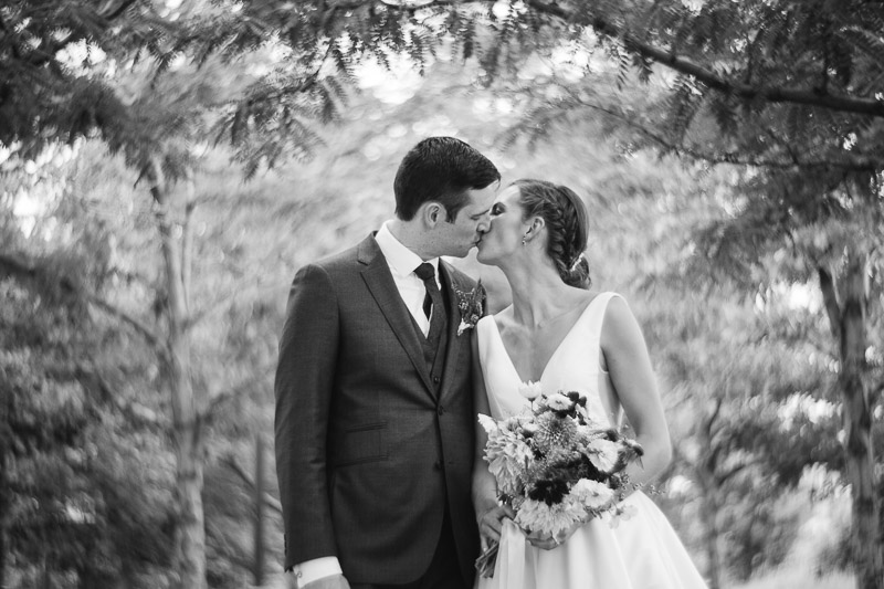 denver athletic club wedding photography vintage couple kissing