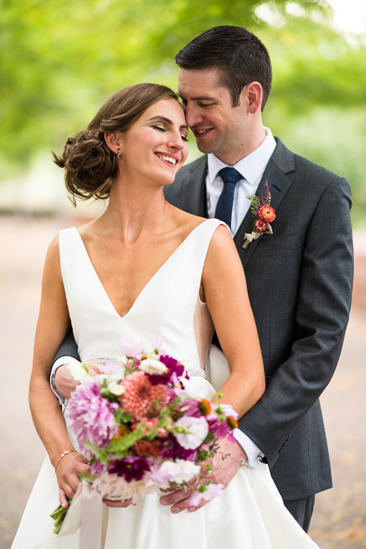 denver athletic club wedding photography couple in park