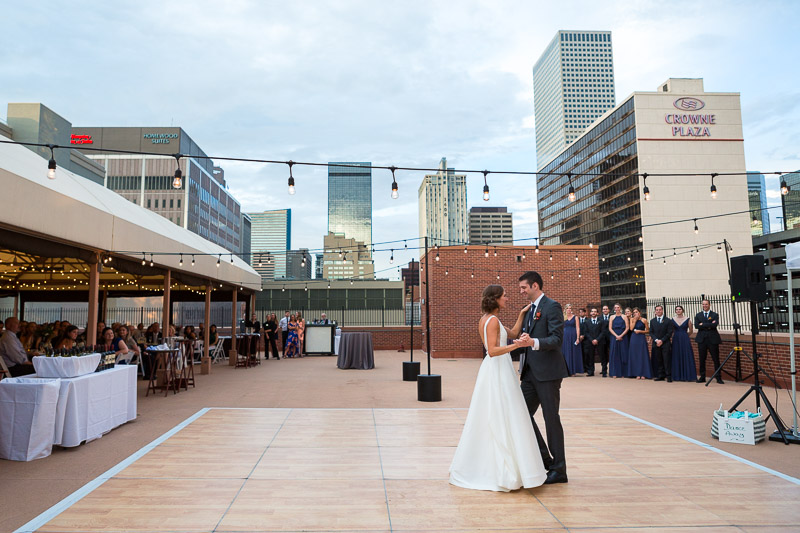 denver athletic club wedding photography dancing in denver
