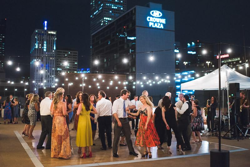 denver athletic club wedding photography outdoor dance floor