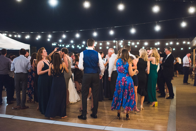 denver athletic club wedding photography bistro lights
