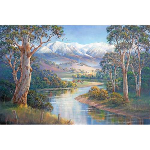 Autumn Snow Murray Valley Painting John Bradley