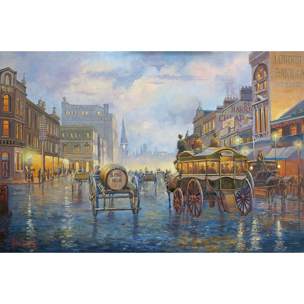 City Lights Painting by John Bradley
