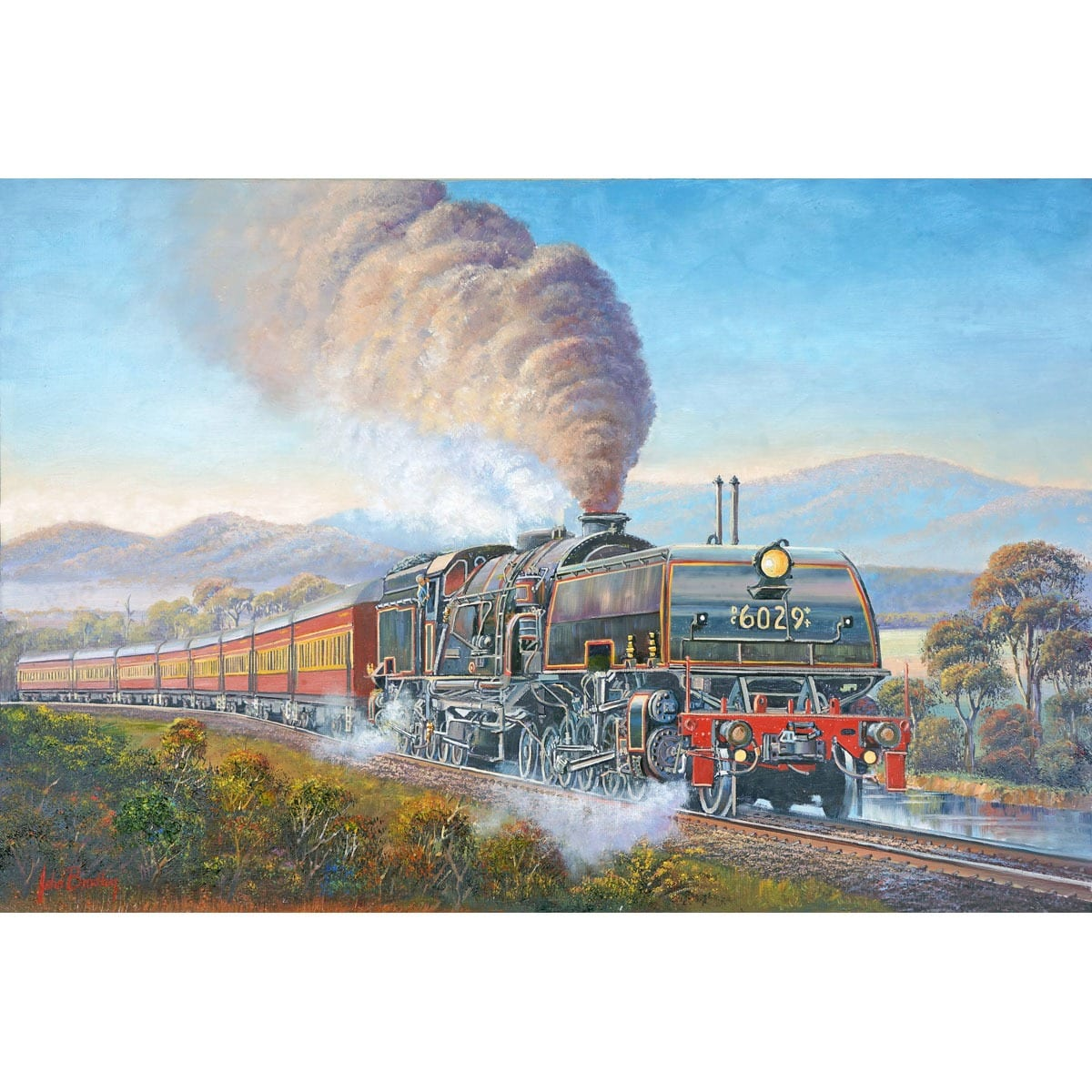 Train Collectors Art by John Bradley