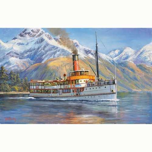Earnslaw on Lake Wakitipu Queenstown NZ Painting by John Bradley