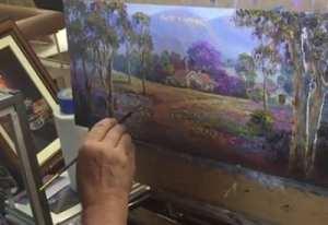 John Bradley in the Art Studio