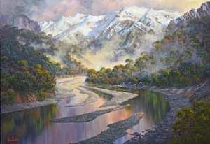 John Bradley Mountain painting