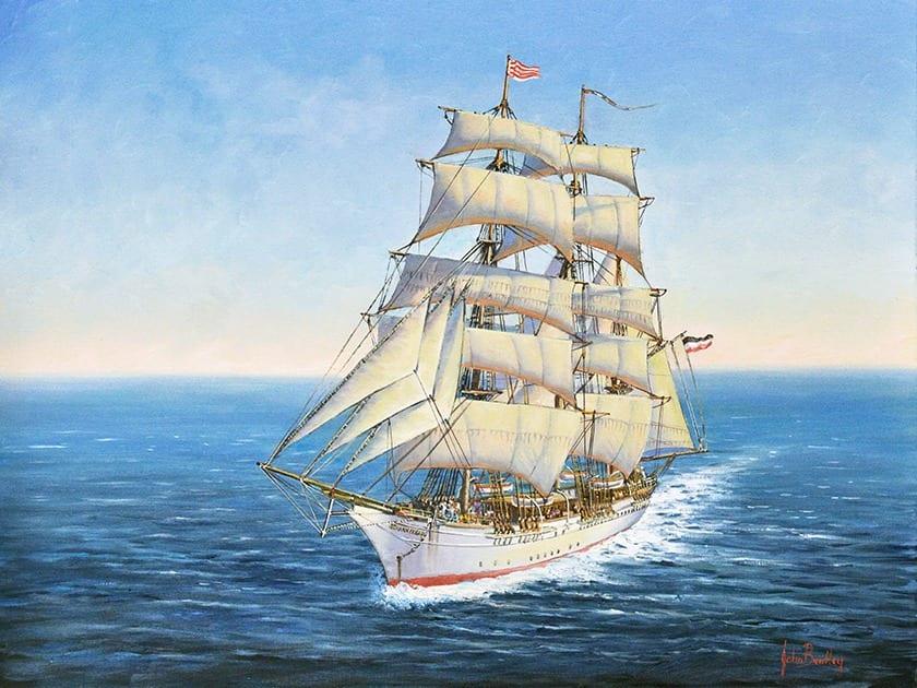 Johan Cesar ship painting by John Bradley