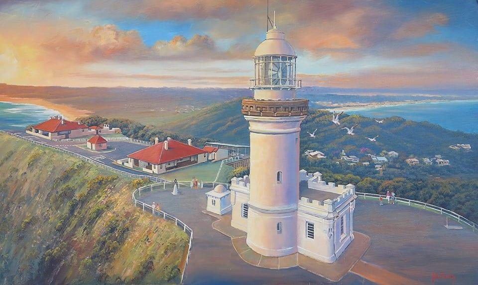 Late Light Byron Bay painting John Bradley