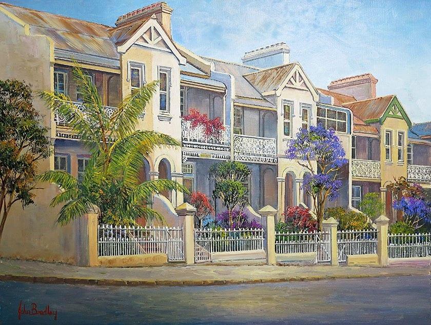 Paddington Terrace Painting John Bradley