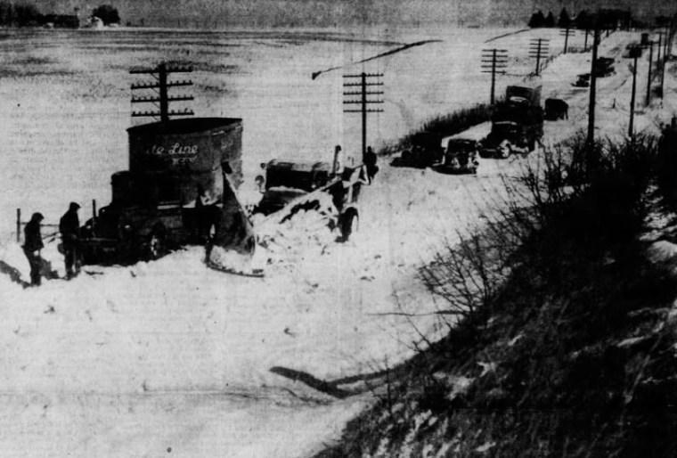 Highway 6 1937 Iowa Blizzard