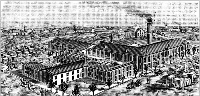 Antique illustration of USA: Terre Haute, Indiana - Industry factory