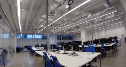 One of the computer labs on the first floor. Cornell ACSU president Andrew Levine said this space needed to be spruced up.