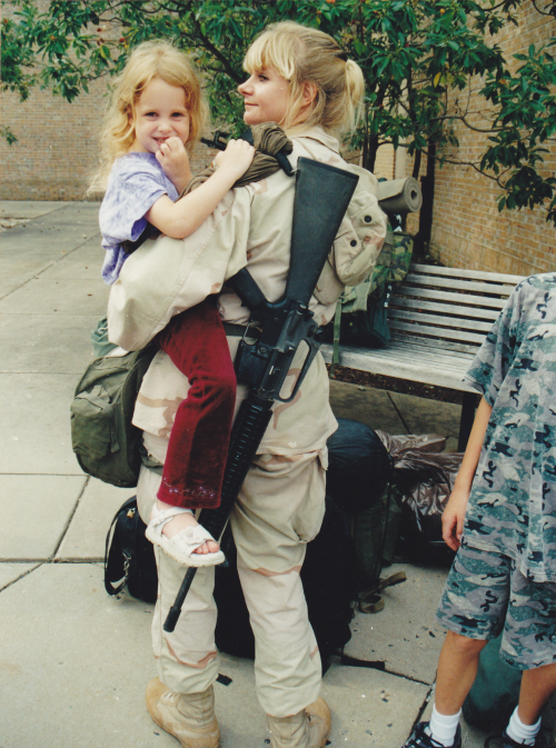 Beth arriving home from Iraq