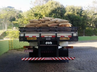 Brazil coffee sacks on truck - Blog 2013 - John Burton Ltd NZ