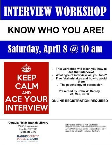 """Free Career Workshop – """"Interviewing To Get The Job"""""""