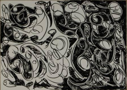 #238 Talk about Overplayed 22x30Charcoal on Paper(11-16-12) 181