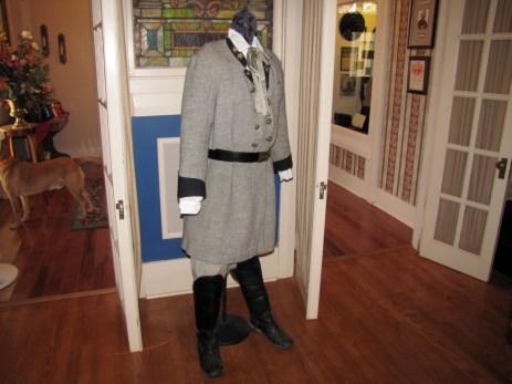 Confederate Officer's uniform at the Lloyd Tilghman House & Civil War Museum in Paducah.
