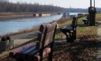 The riverfront in Paducah, Kentucky.