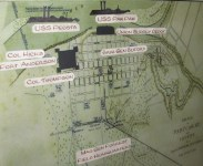 Location of units at the Battle of Paducah. At Lloyd Tilghman House & Civil War Museum.