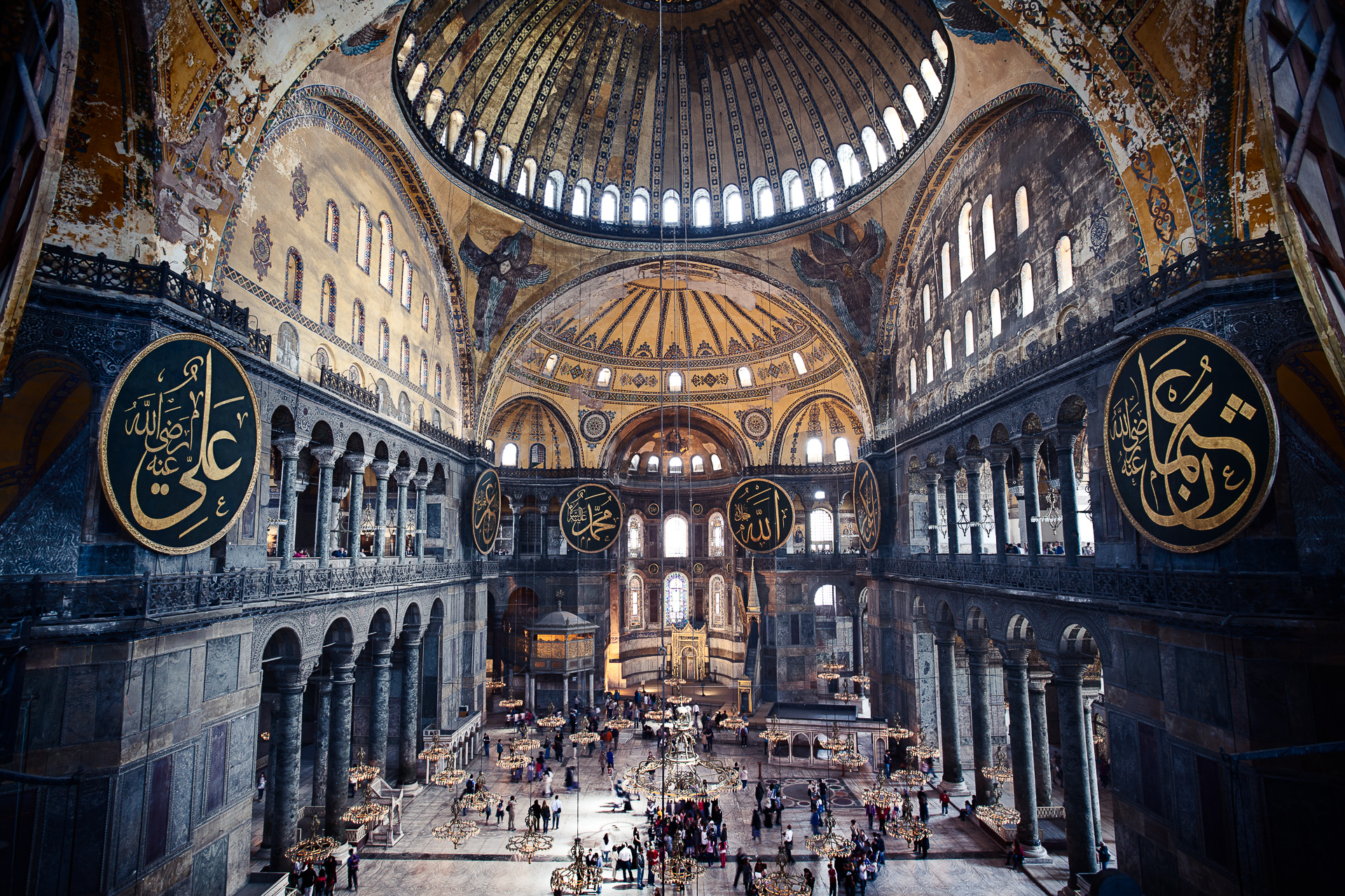 The interior of Hagia Sophia as featured in TIME Magazine