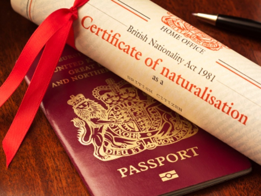 A welcome to new UK citizens Lead, follow and then get out of the way